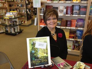 Cynthia at booksigning at Lighthouse in Wisconsin Rapids