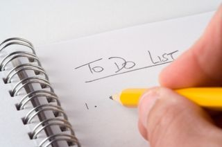 To Do List with Hand